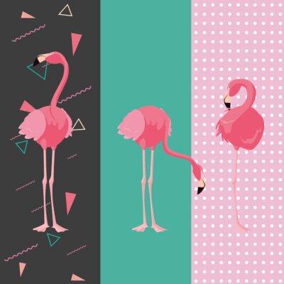 Naklejka tropical flamingo design