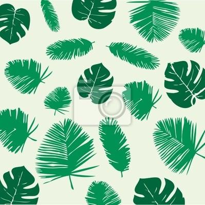 Tropical Liście Seamless Pattern