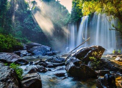 Naklejka Tropical wodospad