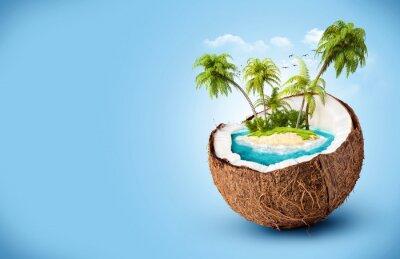 Naklejka tropikalna wyspa