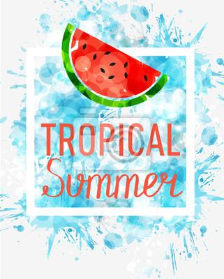 Naklejka tropikalne lato