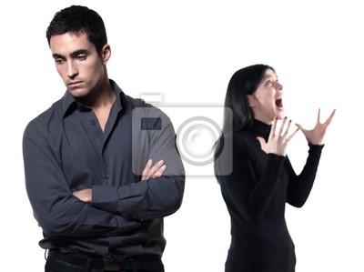 Naklejka trudności w relacjach para