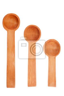 trzy drewniane łyżki