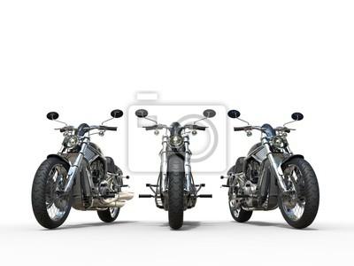 Naklejka Trzy niesamowite zabytkowe motocykle