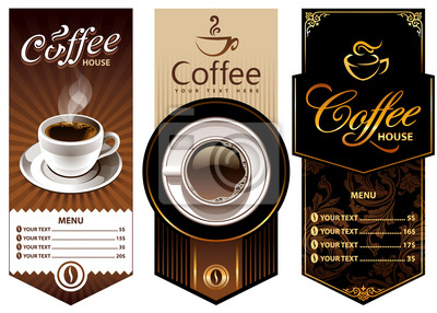 Trzy szablony kawy projekt