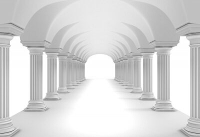 Naklejka Tunel Kolumna