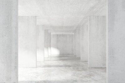 Naklejka Tunel w stylu loft z wielu ścian w lekkiej pusty budynek