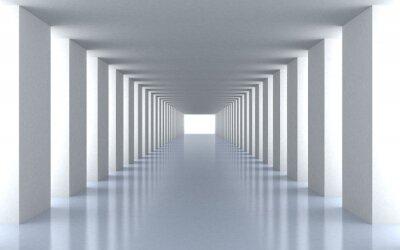 Naklejka Tunnel białe światło