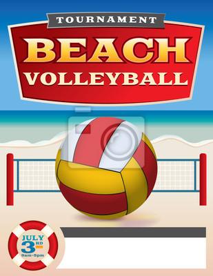 Turniej Plażowej Piłki Siatkowej wydruku Ilustracja