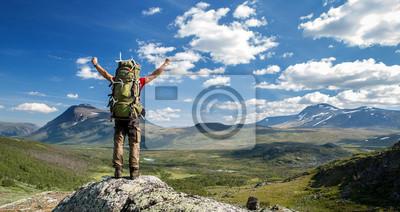 Naklejka Turysta czuje się wolny!