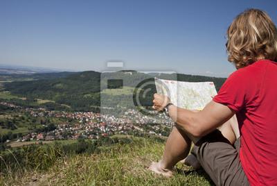 Turysta ma przerwę - mapy szuka