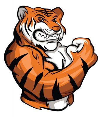 Naklejka Tygrys maskotka