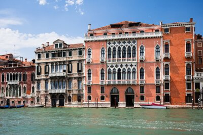 Typical view on Venice Grand Canal. Italy