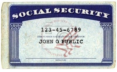 Typowa amerykańska Kartę Ubezpieczenia