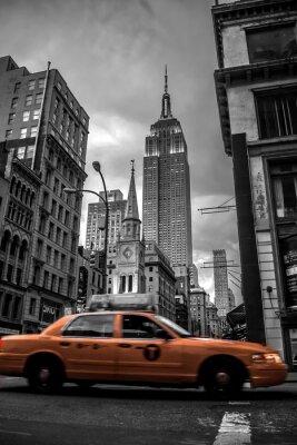 Naklejka Ulica Nowy Jork w wieczór
