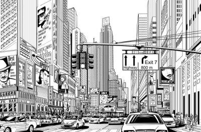 Naklejka Ulica w Nowym Jorku