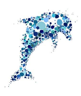 Naklejka Unikalny i kreatywny ilustracja delfina
