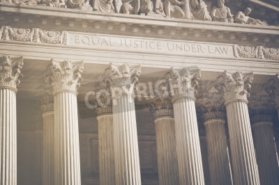 Naklejka United States Supreme Court Pillars of Justice and Law