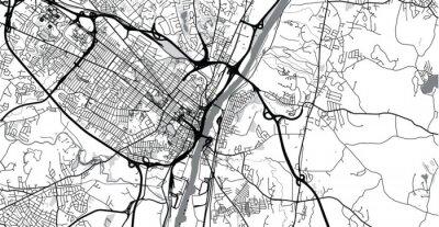Naklejka Urban vector city map of Albany, USA. New York state capital
