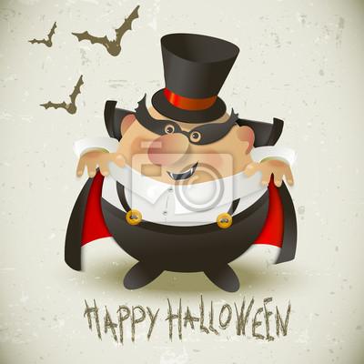 Uroczy Hrabia Dracula. Halloween tła.