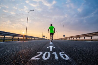 Naklejka Uruchom w nowym roku 2016