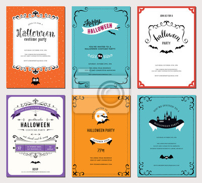 Urządzenia Zestaw 6 kart Halloween.