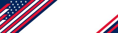 Naklejka USA banner background