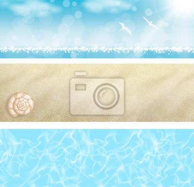 Naklejka Ustaw Baner Spiaggia