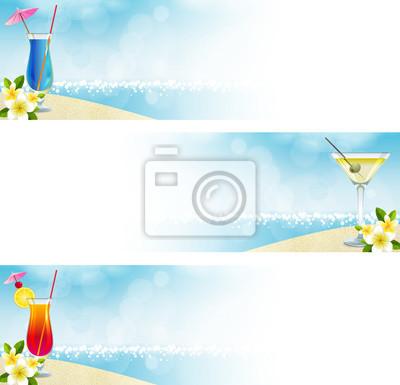 Naklejka Ustaw Banner Spiaggia