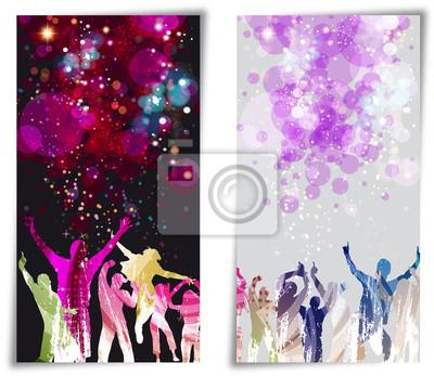 Naklejka Ustaw disco party Baner