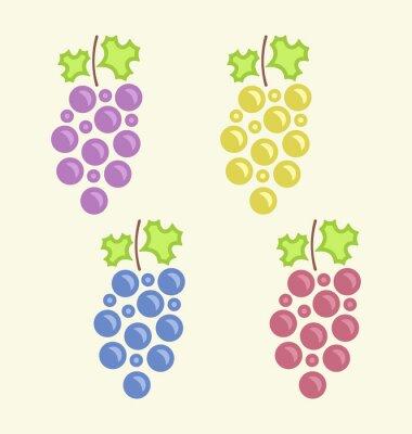 Naklejka Ustaw Kolorowe Bukiety Grape