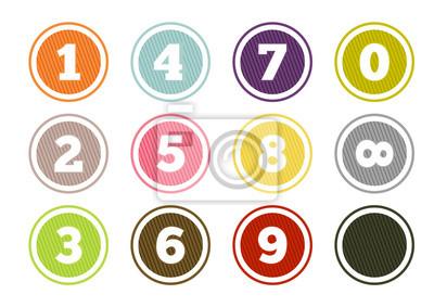 Naklejka Ustawić kolorowe przyciski numeryczne