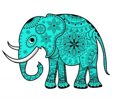 Naklejka Utrzymane wektora słoń, słoń, porcelany vettoriale