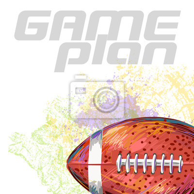 Utworzone przez profesjonalnego Football Artist. Ta ilustracja jest tworzony przez tabletu Wacom za pomocą grunge tekstury i szczotki malarskiej w stylu.