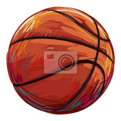 Utworzone przez profesjonalnego Koszykówka Artist. Ta ilustracja jest tworzony przez tabletby Wacom za pomocą szczotki grunge i tekstury