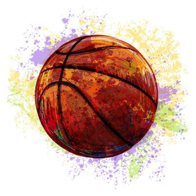 Utworzone przez profesjonalnego Koszykówka Artist. Ta ilustracja jest tworzony przez tabletu Wacom za pomocą szczotki grunge i tekstury