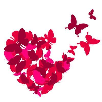 Naklejka uwielbiam serca,