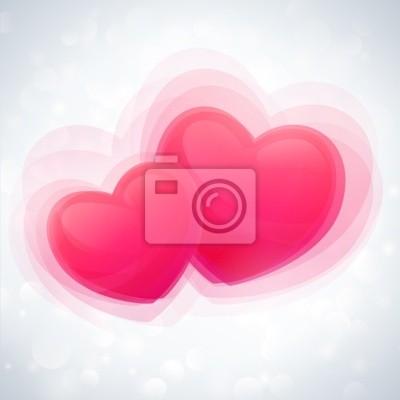 Valentine karty z serca i abstrakcyjnych. Wektor