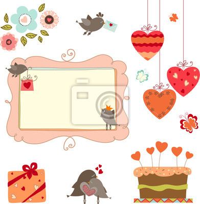 Valentines and Birds set