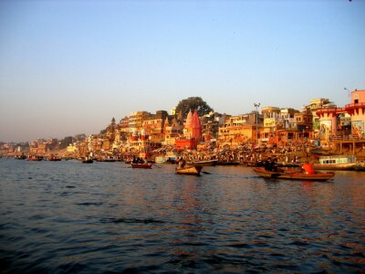 Naklejka Varanasi od Ganges rano