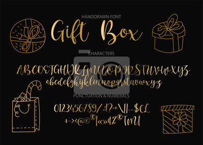 Vector alphabet typeface. Hand drawn modern typeface. Cute typographic script letter set for logo, branding and lettering quotes.