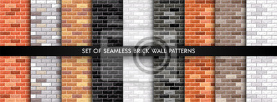 Naklejka Vector brick wall set