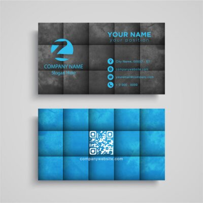 Vector business card with squares