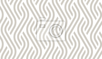 Naklejka Vector geometric diagonal fabric waves seamless texture. Cream colour background.