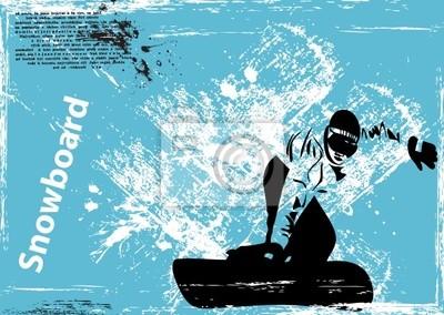 vector grunge snowboard