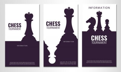 Naklejka Vector illustration about chess tournament, match, game. Use as advertising, invitation, banner, poster