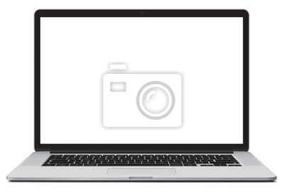 Naklejka Vector illustration of laptop isolated on white background