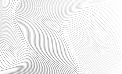 Naklejka Vector illustration of the pattern of the gray lines abstract background. EPS10.