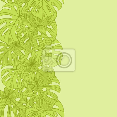 Vector ilustracji liści palmy. Szwu.