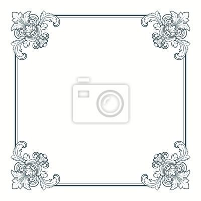 Vector kaligrafii ozdobny rocznika ramki granicy